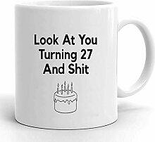 Kaffeebecher 27. Geburtstag 27. Geburtstagsfeier