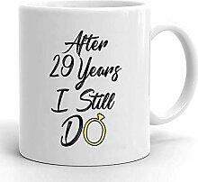 Kaffeebecher 29. Jahrestag Für Ehemann 29.