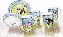 Kaffeebecher 320ml 4er Set My little Farm - Flirt