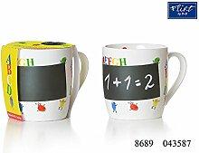 Kaffeebecher 350ml mit Kreide 6er Set ABC - Flirt