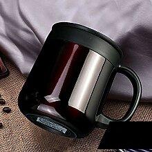Kaffeebecher 400ML 304 Edelstahl Thermos Becher