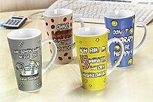 Kaffeebecher 473ml 4er Set Bürosprüche - Flirt