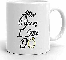 Kaffeebecher 6. Jahrestag Für Ehemann 6.