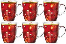 Kaffeebecher 6er Set 320ml Winterapfel - Flirt by