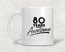 Kaffeebecher 80. Geburtstag 80. Geburtstag 80.