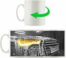 Kaffeebecher Audi Motor gewaschen