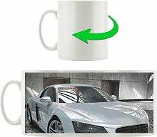 Kaffeebecher Audi R8 silber stehend
