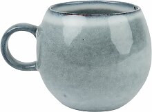 Kaffeebecher aus blaugrauer Fayence