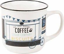 Kaffeebecher aus Fayence, bedruckt