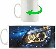 Kaffeebecher BMW Angel Eyes Blau frontal