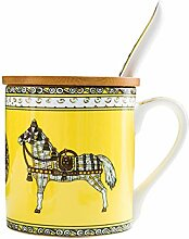 Kaffeebecher Bone China Mit Deckel Und Löffel
