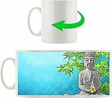 Kaffeebecher Buddha vor Bambus East Urban Home