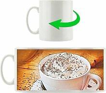 Kaffeebecher Cappuccino mit Sahne