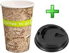 Kaffeebecher Coffee ToGo COFFEE DREAMS mit Deckel