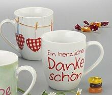 "Kaffeebecher ""Danke schön"" BECHER 0,25L. DANKE 950596"