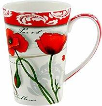 Kaffeebecher Diamant Design: Mohn - 0,25L Tasse