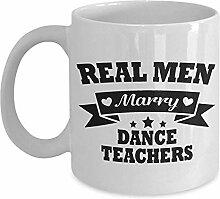 Kaffeebecher Echte Männer Heiraten Tanzlehrer