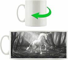 Kaffeebecher Einhorn im Märchenwald