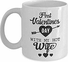 Kaffeebecher Erster Valentinstag Mit Meiner