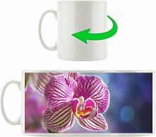 Kaffeebecher Farbenprächtige Orchidee