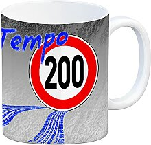 Kaffeebecher gegen Tempolimit - für 200 km/h bei