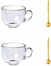 Kaffeebecher Glas Kaffeetasse Set, Becher mit