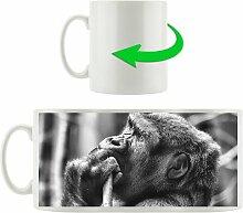 Kaffeebecher Gorilla isst East Urban Home