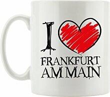 Kaffeebecher I Love Frankfurt am Main