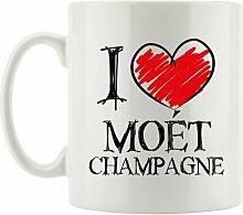 Kaffeebecher I Love Moét Champange East Urban Home