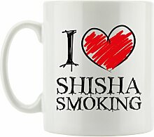 Kaffeebecher I Love Shisha Smoking East Urban Home