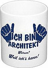 Kaffeebecher - Ich bin Architekt, dunkelblau