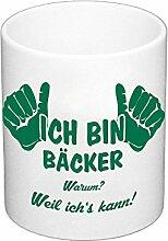 Kaffeebecher - Ich bin Bäcker, dunkelgrün