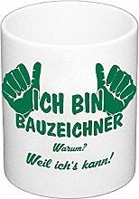 Kaffeebecher - Ich bin Bauzeichner, dunkelgrün