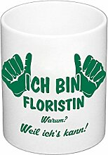 Kaffeebecher - Ich bin Floristin, dunkelgrün