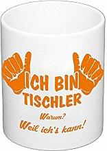Kaffeebecher - Ich bin Tischler, orange