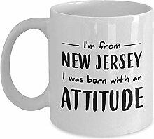 Kaffeebecher Ich Komme Aus New Jersey. Ich Wurde