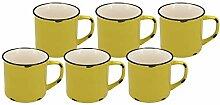 Kaffeebecher in Emaille-Optik   verschiedenen