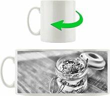 Kaffeebecher Jogurt Müsli im Glas