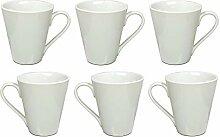 Kaffeebecher Kaffeetasse Porzellan Weiß mit