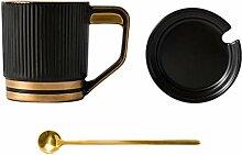 Kaffeebecher Keramik-Becher Kaffeetasse mit Deckel