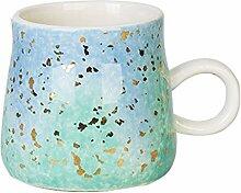 Kaffeebecher Keramik-Lagerfeuer-Becher, Aquarell