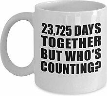 Kaffeebecher, Keramik, zum 65. Jahrestag, 23,725