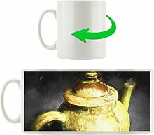 Kaffeebecher Klassische alte Teekanne aus Keramik