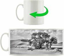 Kaffeebecher Kleine Bäume in Wüstenlandschaft