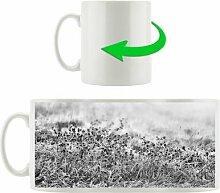 Kaffeebecher Lila Diestel Feld im Retro Look