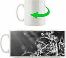Kaffeebecher Lilie mit Wassertropfen