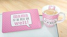Kaffeebecher Mama rosa