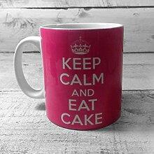 Kaffeebecher mit Aufschrift Keep Calm and EAT, 312