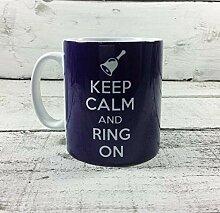 Kaffeebecher mit Aufschrift Keep Calm and Ring On