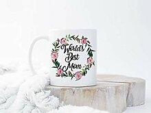 Kaffeebecher mit Aufschrift Mama-Bär, Aufschrift